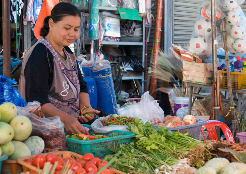 Market in small town en route to Ayuthaya