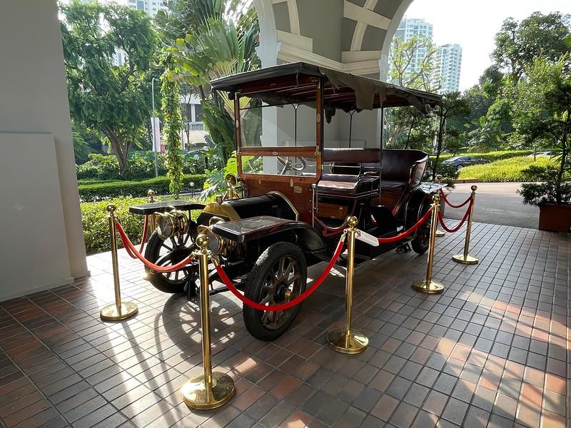 An Antique Car at Goodwood Park Hotel