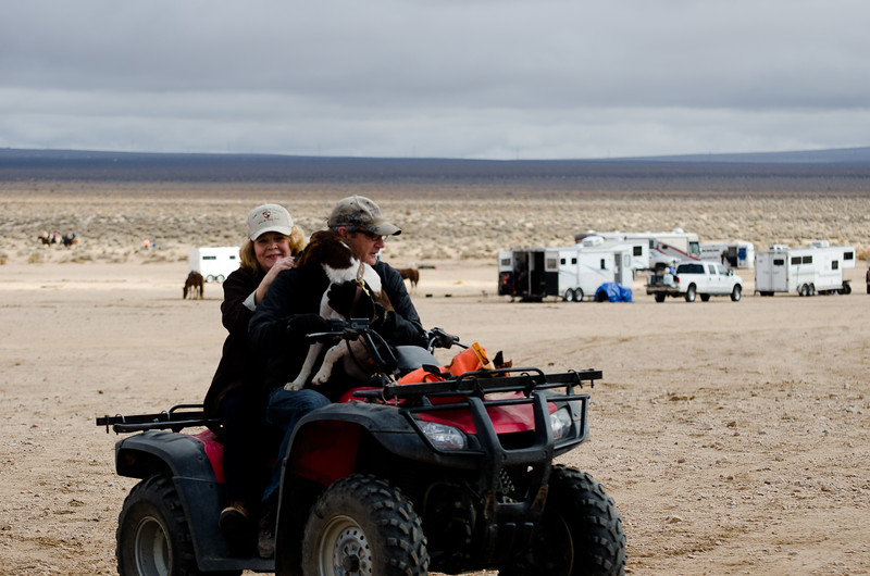 Jasmine's first ride on a quad, Vicki Rittner and Mark Ambre
