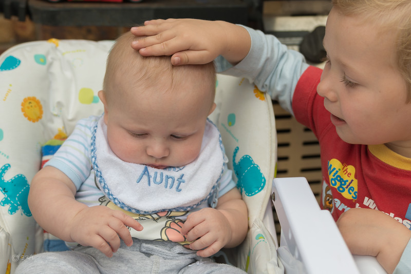 Landon looking after he's cousin Michael