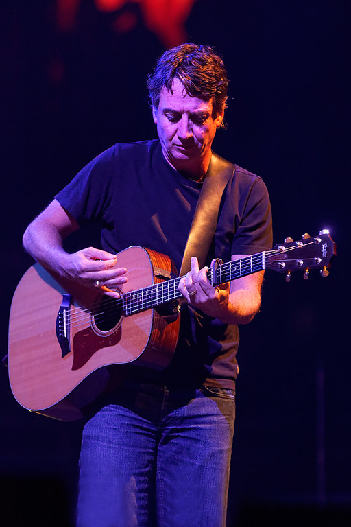 . Stone Gossard of Pearl Jam at Joe Louis Arena in Detroit Oct. 16, 2014. Photo by Ken Settle