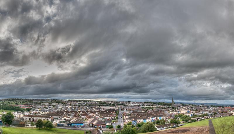 Bogside - Derry, Northern Ireland, UK - August 17, 2017