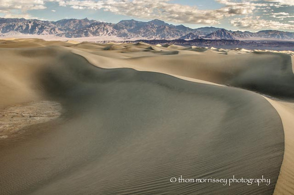 Sand dunes at Mesquite Flat.
