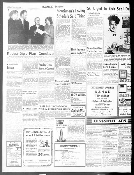 Daily Trojan, Vol. 40, No. 53, November 29, 1948