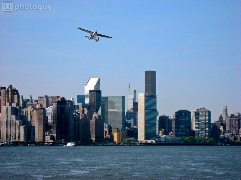 Seaplane Over New York City