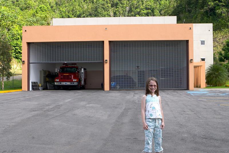 Natalia demonstrates Florida's firehouse