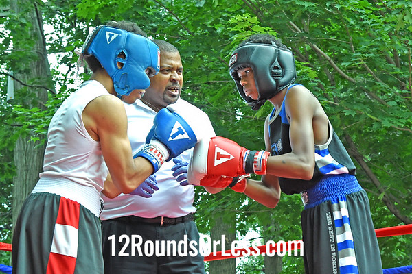 Bout 4:   Nick McDonald, Blue Gloves, 95 lbs -vs- Khamal Abdullah, Red Gloves, 98 lbs, Cory FC