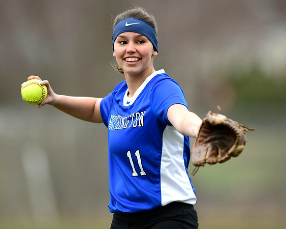 4/9/2019 Mike Orazzi | Staff Southington's Katelyn Lipsky (11) during Tuesday's softball game in Bristol.