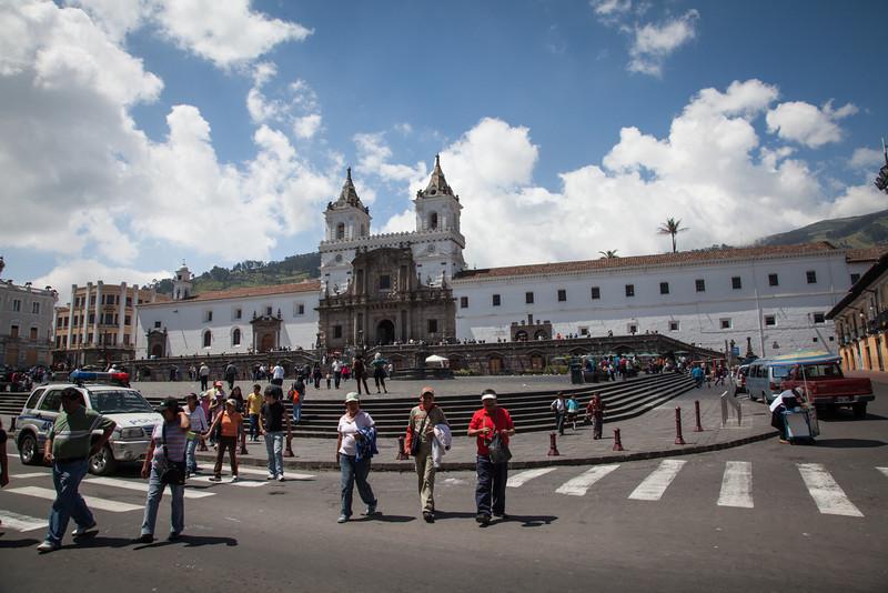 The monastery  at Plaza de San Francisco.
