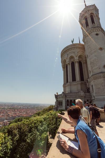 The viewing platform at Basilique Notre Dame de Fourvière