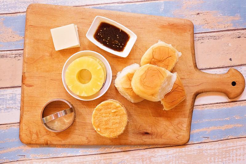 ingredients for King's Hawaiian Chicken Sliders