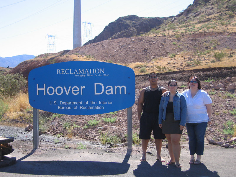 on the way to the Hoover Dam