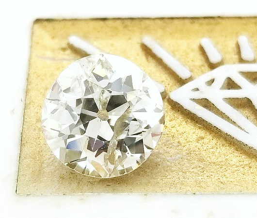 1.46ct Old European Cut Diamond - GIA Fancy Light Gray, I2