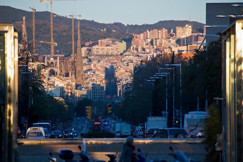 Looking down the Carrer de la Marine in Barcelona. (Dec 12, 2007, 08:24am)