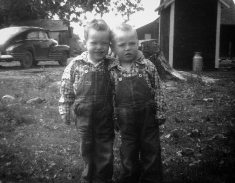 Jimmy & David Asher at the farm.