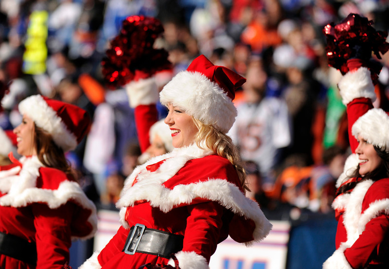 . Buffalo Bills Cheerleaders dress as Santa Claus for the game against Denver Broncos at Ralph Wilson Stadium in Orchard Park, New York, Friday, December 24, 2011. Buffalo won 40-14. Hyoung Chang, The Denver Post