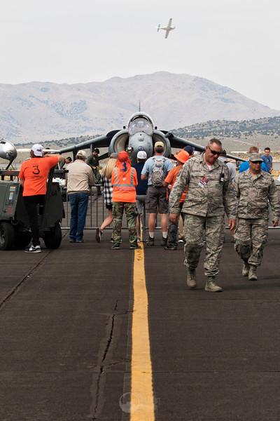Crowd in front of a AV-8B Harrier II