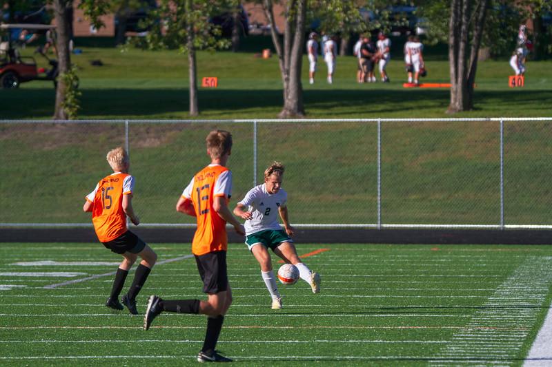 Holy Family Varsity Soccer vs. Delano, 9/19/19: Thomas Aragon-Menzel '20 (2)