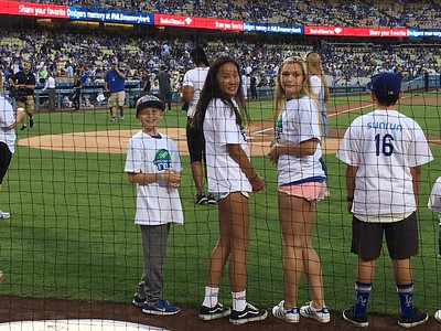 Kids Take The Bases at Dodgers Stadium