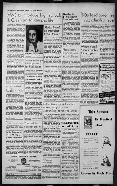 Daily Trojan, Vol. 34, No. 145, May 12, 1943