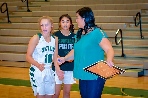 Skyline Girls Varsity vs Newport, 12/12/18