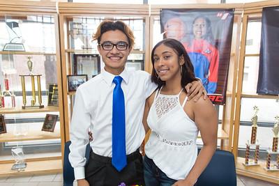 Americas High School Signing Cesar Orquiz/ Nyla Isaac