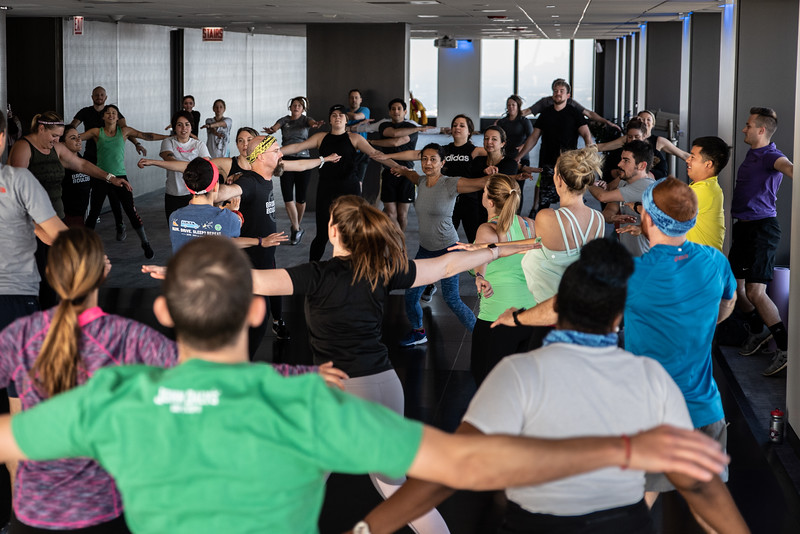 Sky Deck Fitness Class at Willis Tower