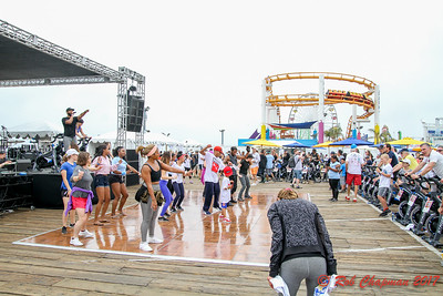 Nth Power as Earth, Wind & Power with John Norwood Fisher Regiment Horns Harold Robinson Foundation Pedal On The Pier at The Santa Monica Pier in Santa Monica CA on 6-4-2017