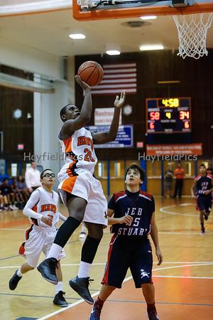 Boys Basketball JV JEB Stuart 12/20/12
