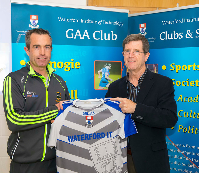 WIT holds event to honour 2016 All Ireland medal winning students. Pictured is Damien Young, Backroom of the Tipperary Hurling Team and Eugene McKenna, President of WIT GAA Club. Picture: Patrick Browne  Waterford Institute of Technology's presence and influence across Gaelic Games at a national level in 2016 has been very noticeable. In total there are 32 past and present WIT students on the respective playing panels that won All Ireland medals in 2016 and a further 4 members on the backroom management teams.   To honour this huge achievement, WIT GAA Club is paying tribute to these 36 past members on securing these prestigious national titles on Monday 3 October, 6.30pm at the WIT Arena.   Along with the players, the prestigious cups, including the All Ireland Senior Hurling Cup- Liam McCarthy, the All Ireland Senior Camogie Cup- O'Duffy, The All Ireland Minor Cup and the All Ireland Under 21 Hurling Cup- James Nowlan, will be on show on the night.