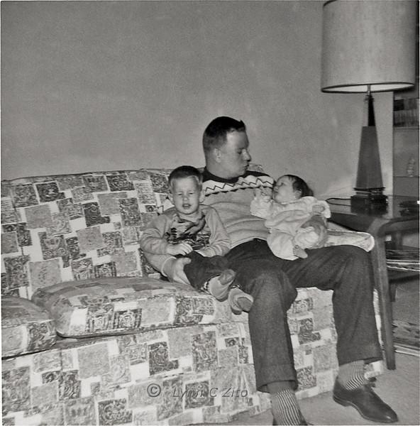 CRAIG, DAD & LYNN JANUARY 1958
