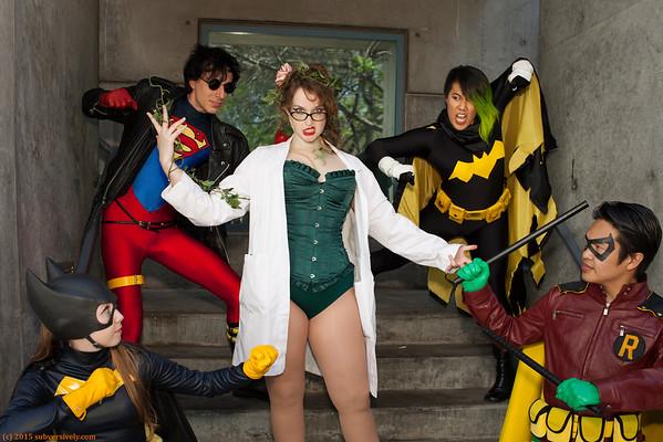 Superheroines of cosplay