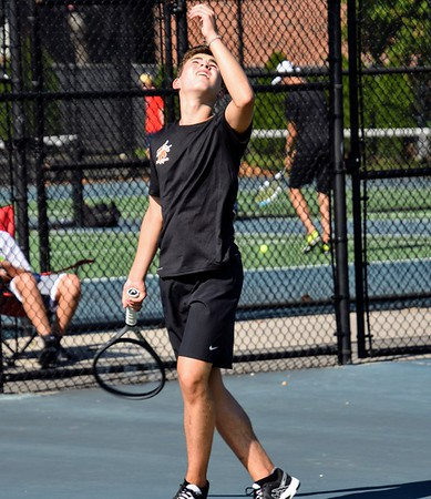 HS Sports -  Franklin at Dearborn Boys' Tennis 19