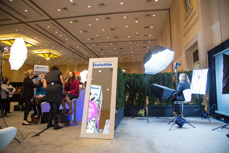 Professional corporate headshots at Oracle HCM World Conference.