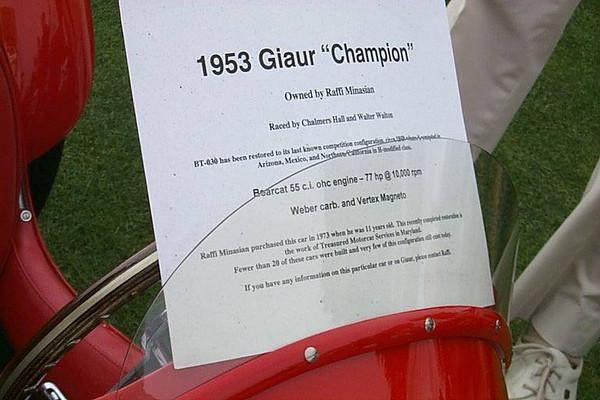 """1953 Giaur """"Champion"""""""