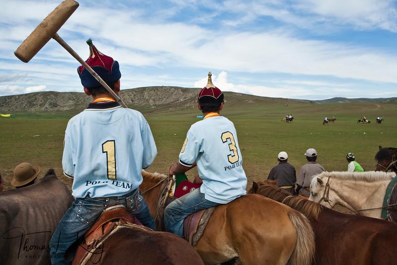 Kid's Polo at Genghis Khan Polo Club in Monkhe Tingri. Mongolia