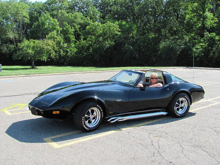 Description of . Name: Gburnett1@gmail.com; Mary Mansfield, of Keego Harbor Cutline: 1979 Corvette. L-82 stock motor with tuned headers!