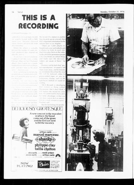 SoCal, Vol. 67, No. 25, October 21, 1974