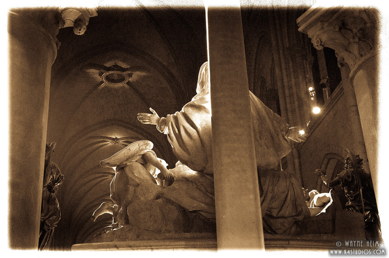 Statue in Notre Dame  Photography by Wayne Heim