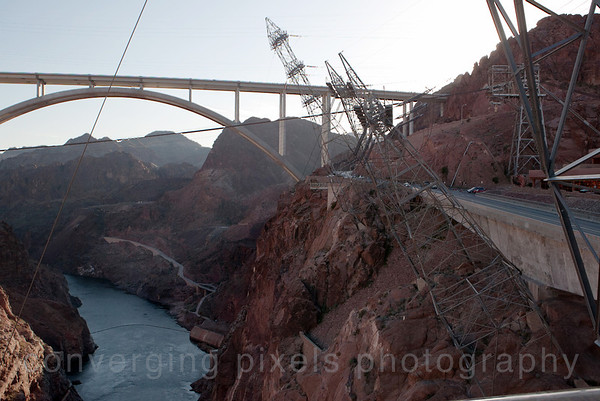 The bridge is the second-highest in the United States, behind Royal Gorge Bridge, at 840 feet (260 m) above the Colorado River. Hoover Dam