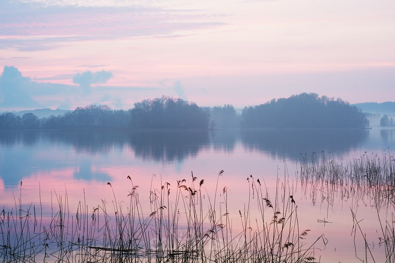 Sunset at lake Ezezers, Latgale, Latvia