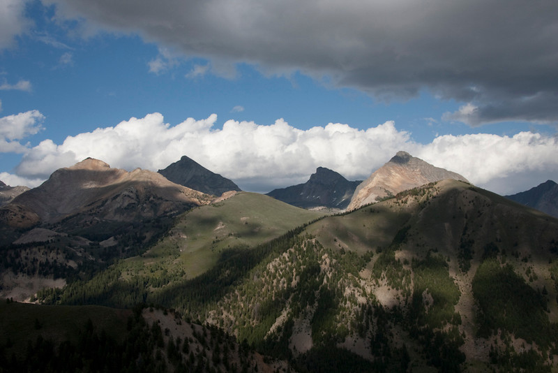 The view of the Pios from the Johnstone Creek trail.