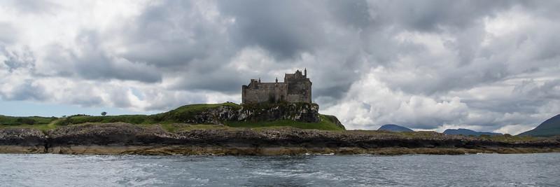 Duart Castle about 5 miles across the Loch