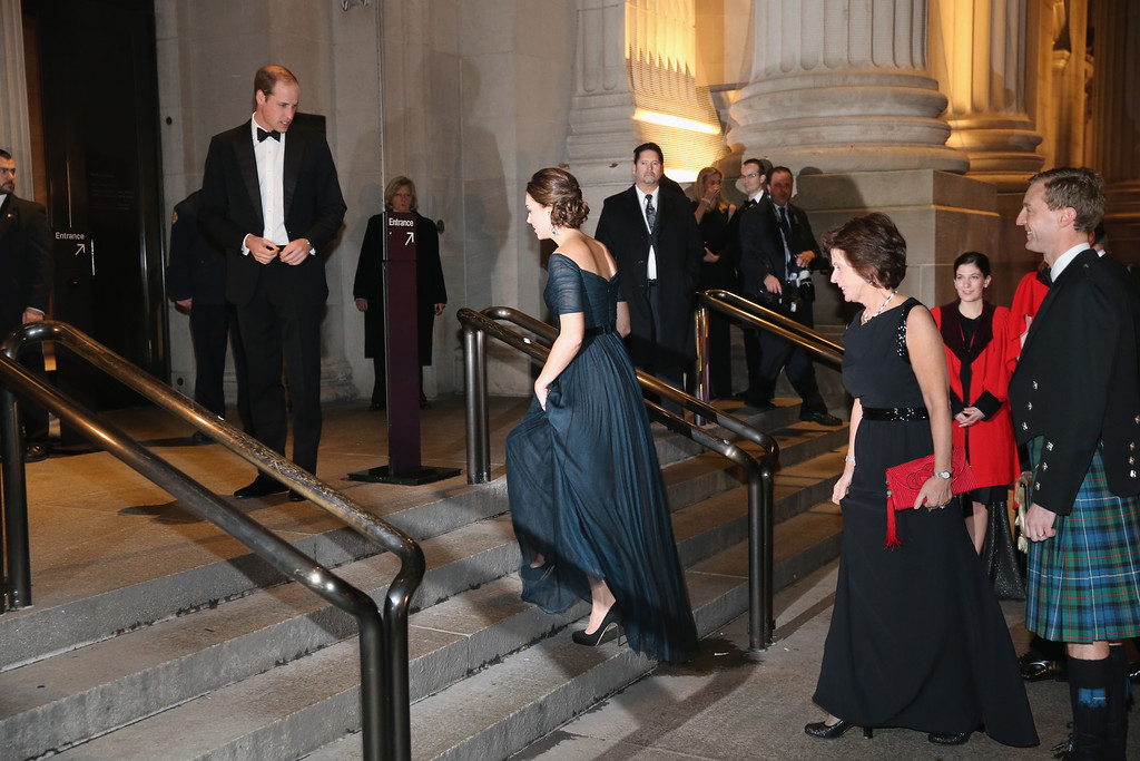 . Prince William, Duke of Cambridge and Catherine, Duchess of Cambridge arrive at Metropolitan Museum of Art to attend the St. Andrews 600th Anniversary Dinner December 9, 2014 in New York City. The event is created to support scholarships and bursaries for students from under-privileged communities and investment in the university\'s media and science faculties, sports centers and lectureship in American literature.  (Photo by Neilson Barnard/Getty Images)