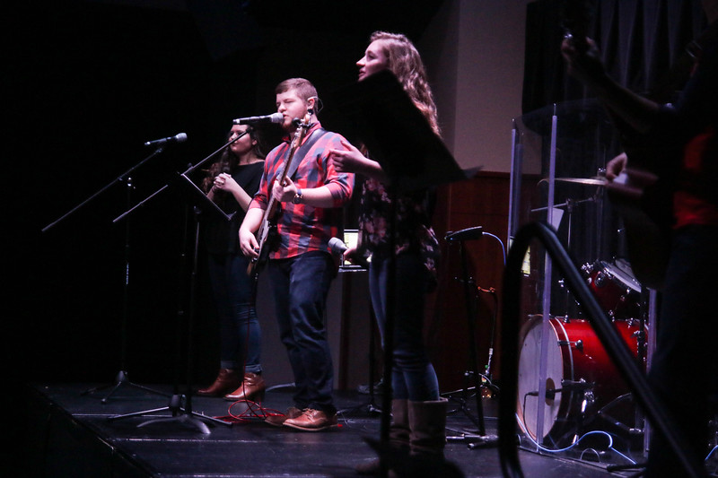 Day two of Celebration Week started with Dimensions and ended with The Gathering at 7:30pm. The Gathering Band led three songs of worship and Algernon Tennyson shared a powerful message on Colossians 2.