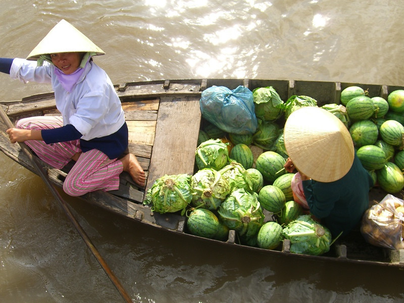 Cabbage and Watermelon - Mekong Delta, Vietnam