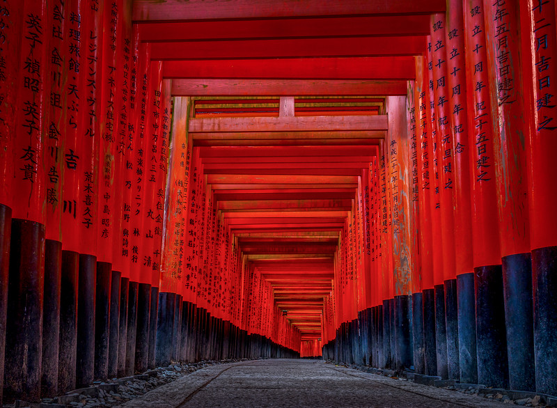 114.Dave Fujii.1.Fushimi Inari Torii 2.jpg