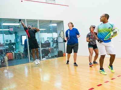 2015-10-17 Mixed Doubles Open Quarters Kamyron Meeks / Arrisa Hanson over Christina Vandling / John Edwards