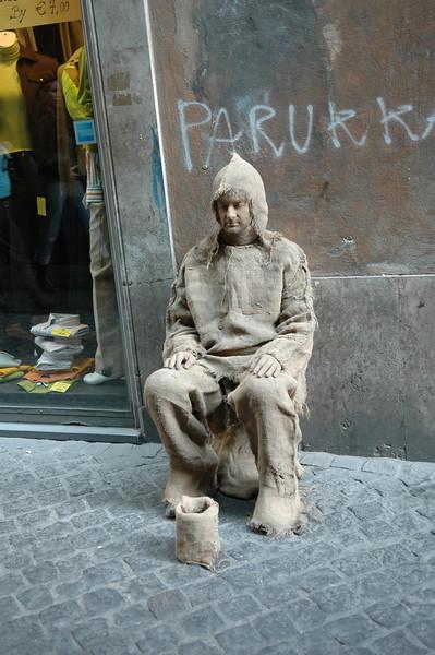 Street performer in Rome.