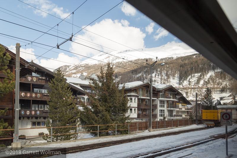 Gornergratbahn trackway and catenary